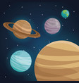 color space landscape background with view planets vector image vector image