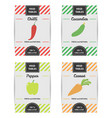colorful design set of vegetable labels vector image