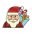 cute santa claus with gift present vector image