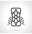 Elbow icon black line icon vector image vector image