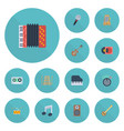 flat icons knob banjo tambourine and other vector image vector image