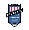 football champions league emblem logo vector image vector image