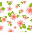 frangipani seamless vector image vector image