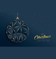 gold christmas ornament bauble for holiday card vector image vector image