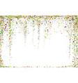 gold glitter confetti texture on a white vector image vector image