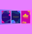 gradient fluid shapes abstract covers set fluid vector image vector image
