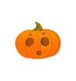 halloween pumpkin lantern with surprised face vector image vector image