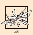 hand drawn chili vector image
