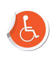 handicap symbol orange tag vector image vector image