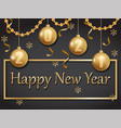 happy new year 2021 gold and black vector image