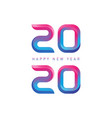 happy new year - greeting card with gradients new vector image