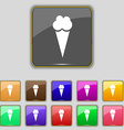 Ice Cream icon sign Set with eleven colored vector image vector image