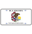 illinois flag license plate vector image vector image
