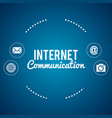 internet communication set icons vector image vector image