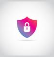 internet secure shield logo sign symbol icon vector image vector image