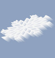 isometric snowflake with gradient 3d effect vector image vector image
