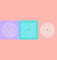 labyrinths games set vector image