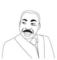 martin luther king portrait vector image