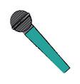 microphone voice sound audio speech vector image vector image