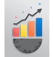 Modern design graph with columns and arrow vector image vector image