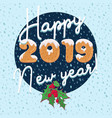 new year card design in cartoon style with text vector image vector image