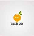 Orange chat logo icon element and template