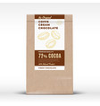 original coffee cream chocolate craft paper vector image