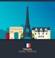 paris travelling paris skyline vector image