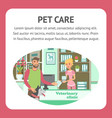 pet care web banner color template vector image vector image