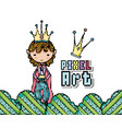 pixel art fantasy cartoon vector image vector image