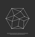 polygon network logo vector image vector image