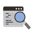 programming software magnifying glass coding web vector image vector image