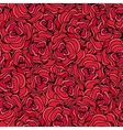 Red roses Seamless floral background vector image vector image