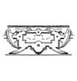 renaissance strap-work frame was made between vector image vector image