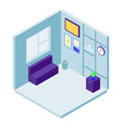 rest room icon isometric style vector image vector image