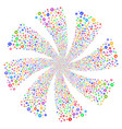 rounded arrow fireworks swirl flower vector image vector image