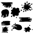 set hand drawn blob splash doodle paint vector image
