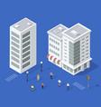 set urban houses vector image vector image