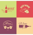 set wine labels badges and logos for design vector image