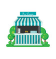shiny colorful ice cream shop vector image vector image