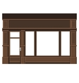 Shopfront with White Blank Windows Wood Store vector image