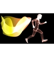 Silhouette Woman athletes on running race vector image vector image
