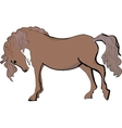 Sketch of horse vector image vector image