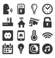 smart home and voice control icons set vector image