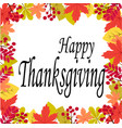 thanksgiving on a white background with leaves vector image