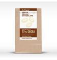 the original coffee cream chocolate craft paper vector image vector image