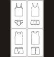 underwear fashion icon singlet pants briefs vector image