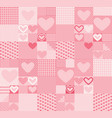 valentine hearts seamless pattern vector image vector image