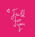 valentines or womens day pink card just vector image