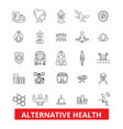 alternative health healing medicine acupuncture vector image